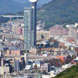 門司港レトロ地区を風師山から見下ろす